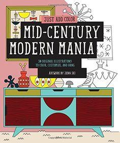 Mid-Century Modern Mania Coloring Book by Jenn Ski