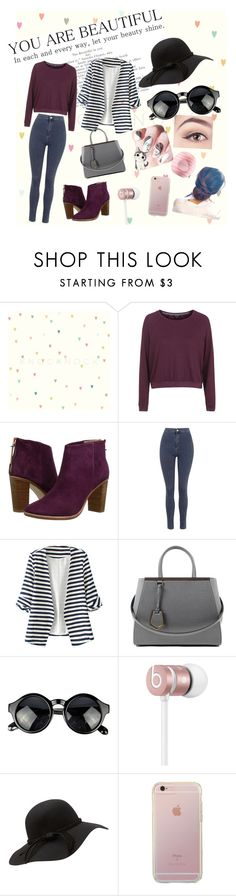 """Walking in the Street"" by cjones0214 on Polyvore featuring Topshop, Ted Baker, WithChic, Fendi, Beats by Dr. Dre and Eos"