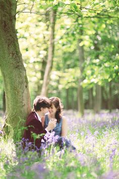 Ashridge Forest Bluebells Engagement | photo by Sanshine Photography | www.sanshinephotography.com | Hertfordshire and London Fine Art Wedding Photographer