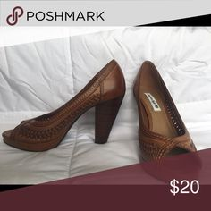 Brown heels American Eagle Brand - never worn - with box American Eagle by Payless Shoes Heels