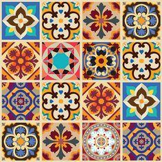 Tecido adesivo mosaico PhMix 50cmx1m 3000-1 Flok Tecidos e Decor - Escolar…