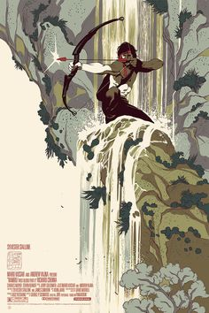 Rambo: First Blood Part II poster by Tomer Hanuka for Mondo. I've never been a big fan of Stalone movies but this is a beautiful poster. Art And Illustration, Illustrations Posters, Tomer Hanuka, Comic Kunst, Comic Art, Graphisches Design, Logo Design, Kunst Poster, Alternative Movie Posters