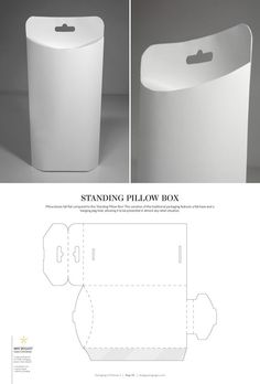 Standing Pillow Box – structural packaging design dielines: