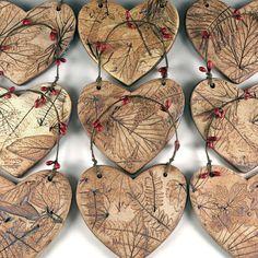 Ceramic Christmas Ornament - Botanical Tree Ornament in Gift Box - Ornament Exchange - Ornament Swap - Ready to Ship