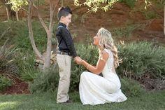 bride and son photos