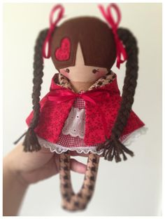 Looks like a Japanese Little Red Riding Hood.  So cute. :)