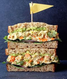 17 Make-Ahead Lunches to Get You Through the Work Week via Brit + Co. Mashed Chickpea Salad: I would add chicken or ham...