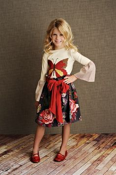 Persnickety Clothing - Butterfly Applique Top Fall 2012