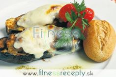 Baklažánové kolieska Baked Potato, Eggs, Potatoes, Fitness, Meat, Chicken, Baking, Breakfast, Ethnic Recipes