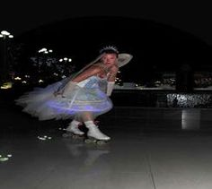 Icy Roller Skaters for hire. Book our LED Fairy Roller Skaters for Winter Wonderland-themed events in the UK & London.
