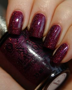 OPI nail polish in Glitter Wine.  Elegant and sparkly