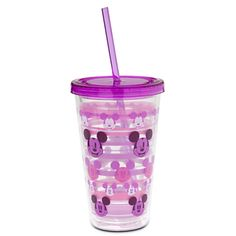 Mickey Mouse Tumbler with Straw - Purple | Drinkware | Disney Store