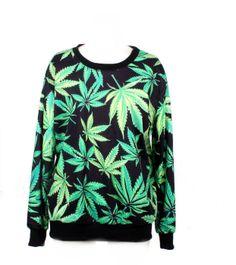 LoveLiness Fashion Sweatshirts Women's Neon Marijuana Leaf Print Sweatshirt           ($18.76) http://www.amazon.com/exec/obidos/ASIN/B00GJIEW2O/hpb2-20/ASIN/B00GJIEW2O