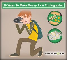 Everybody who enjoys taking photos and does not see them as something unpleasant comes to the moment when he or she starts considering becoming a professional. Actually, making money from photography is not hard; you just need to know how to do it. We made a list of ways in which you can make money from taking photos.   #cash #fastcash #howtoearn #makingmoneywithadigitalcamera #money #photography #waytoearn