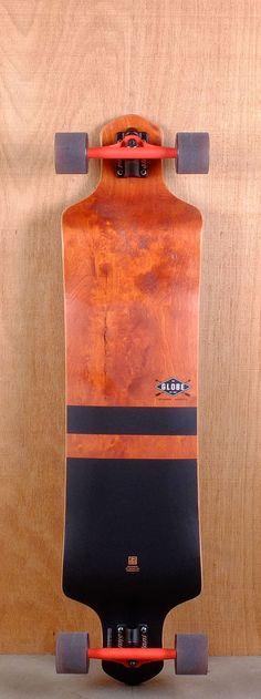 "Globe Prebuilt 41"" Geminon Red Black Longboard Complete Bottom"