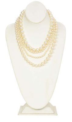 Chanel Multistrand Faux Pearl Necklace