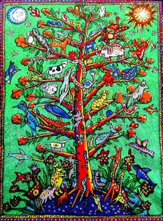 Tree of Life, outsider folk art by Julia Sisi