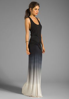 YOUNG, FABULOUS & BROKE Hamptons Ombre Dress in Charcoal - Young, Fabulous & Broke