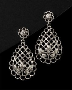 Leslie Greene 'Rivington' 14K & Silver .17 cttw. Diamond Earring