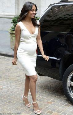 Blogger's Style: Zoe Saldana - Preganacy style
