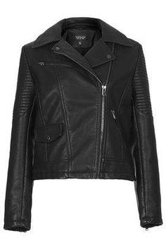 741e9f1c81a79 Faux Leather Biker Jacket - Black Faux Leather Jackets