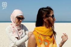 Saru yellow scarf with turqouise and orange Palestinian embroidery - شال تطريز فلسطيني  www.facebook.com/fashion.saru