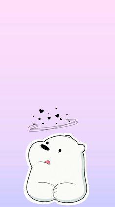 [WE BARE BEARS] Ice Bear IPhone Wallpaper ❄️ webearbear...