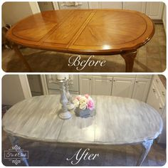 Diy kitchen table - How to turn your table into a Farm Table – Diy kitchen table Refurbished Kitchen Tables, Shabby Chic Kitchen Table, Painted Kitchen Tables, Diy Kitchen, Kitchen Decor, Kitchen Tips, Kitchen Table Redo, Refinishing Kitchen Tables, Kitchen Ideas