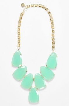 Sporting this mint statement necklace on the weekend :)