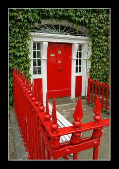 Westport, Ireland - love this red for a front entrance. This was right next to our hotel and I took this same pic.
