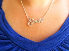 S.M.I.L.E. Necklace  S.M.I.L.E. stands for Spiritually Minded is Life Eternal and can be found in 2 Nephi 9:39