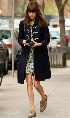 Alexa Chung in a Duffle Coat - Google Search