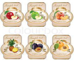 Vector of 'food, clipart, vintage' Jam Jar Labels, Jam Label, Food Labels, Vintage Tags, Vintage Labels, Clipart Vintage, Printable Labels, Printables, Food Clipart