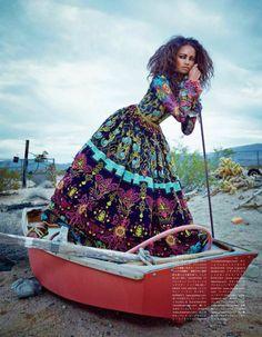 Publication: Vogue Japan July 2014 Model: Malaika Firth Photographer: Emma Summerton Fashion Editor: Giovanna Battaglia Hair: Neil Moodi...