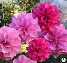 #origami #kusudamas #paper decorations