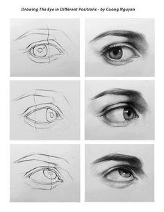 Eye drawing steps