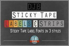 DJB Sticky Tape Labels Fonts by Darcy Baldwin on @creativemarket