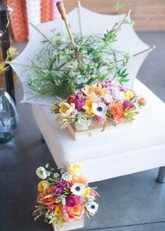 Yellow, pink and orange florals   Photos by Cassandra Castaneda   100 Layer Cake