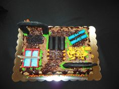 Grooms Cake-Tough Mudder Inspired. We got engaged on 10.11.12 and completed the 2012 Missouri Tough Mudder on 10.13.12.