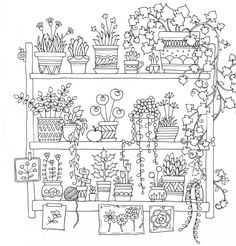 Colour Calm Creative Colouring for Grown-Ups Cute Coloring Pages, Printable Coloring Pages, Adult Coloring Pages, Coloring Books, Doodle Drawings, Easy Drawings, Doodle Art, Embroidery Patterns, Hand Embroidery
