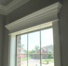 'cornice' window top molding