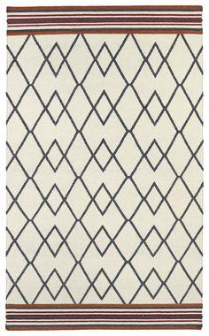 Kaleen Nomad Ivory Geometric Area Rug | AllModern