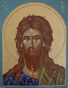 Religious Icons, Religious Art, Greek Icons, Byzantine Icons, John The Baptist, Orthodox Icons, Saints, Angels, Painting