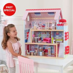 Buy KidKraft: Chelsea Doll Cottage - Dollhouse at Mighty Ape NZ. KidKraft: Chelsea Doll Cottage – Dollhouse Our adorable and interactive KidKraft Chelsea Doll Cottage stands over two feet tall, with three levels an. Wooden Dollhouse, Wooden Dolls, Diy Dollhouse, Dollhouse Furniture, Dollhouse Miniatures, Girls Dollhouse, Kids Furniture, Furniture Sets, Cottage Furniture