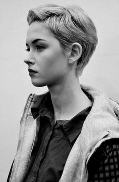 Image result for blonde pixie cut