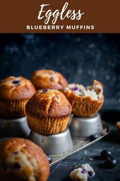 Vegan Blueberry Muffins, Blue Berry Muffins, Muffin Recipes, Snack Recipes, Doughnut Muffins, Recipe Makeovers, Simple Muffin Recipe, Vegetarian Snacks, Tea Time Snacks