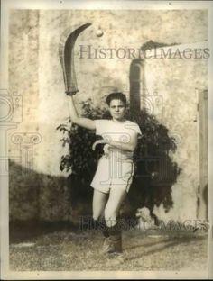1934-Press-Photo-Katherine-Hines-Miami-Florida-jai-alai-player-net19926