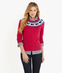 Womens Sweaters: Whale Isle Yolk Holiday Sweater for Women - Vineyard Vines Size M