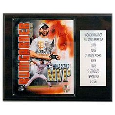 C and I Collectables MLB 15W x 12H in. Madison Bumgarner 2014 World Series MVP San Francisco Giants Player Plaque - 1215BUMGARMVP