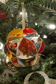Christmas ornament from greeting cards